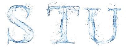Lettres de l'eau illustration stock