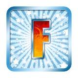 lettres de la célébration f d'alphabet image libre de droits
