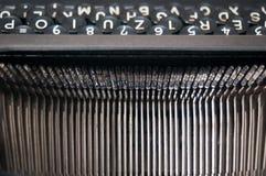 Lettres de machine à écrire de vintage Photographie stock