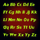 Lettres de mystique d'alphabet Illustration de vecteur Photos stock