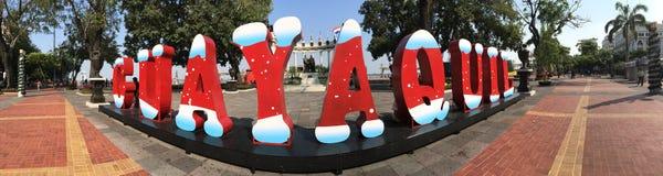 Lettres de Noël de Guayaquil photos stock