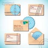 Lettres de Noël et de nouvelle année dans les enveloppes Image libre de droits