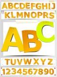 Lettres de papier Images libres de droits