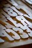 Lettres de presse typographique Image stock