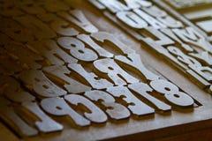 Lettres de presse typographique Image libre de droits