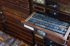 Lettres de presse typographique en métal images libres de droits