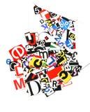 Lettres de rançon Photo libre de droits