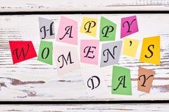 Lettres de salutation sur le bois Image stock