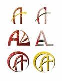Lettres de scintillement d'A illustration libre de droits
