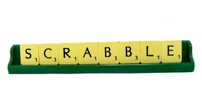 Lettres de Scrabble Photos libres de droits
