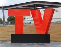 Lettres de TV Photographie stock libre de droits