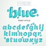 Lettres de vecteur faites en liquide bleu de gelée illustration stock