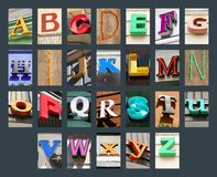 Lettres de ville réglées Photographie stock libre de droits
