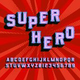 Lettres de vintage du super héros 3D illustration stock
