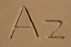 A, lettres de Z Image libre de droits
