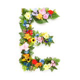 Lettres des feuilles et des fleurs Photo libre de droits