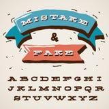 Lettres drôles d'alphabet dans le rétro type Image libre de droits