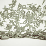 Lettres en baisse illustration stock
