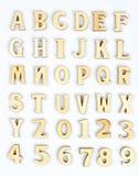Lettres en bois photos libres de droits