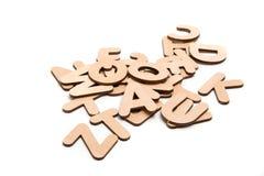 Lettres en bois Photos stock