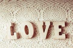 Lettres en bois d'amour Photo libre de droits