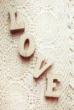 Lettres en bois d'amour Photographie stock libre de droits