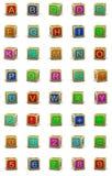 Lettres en bois de cubes illustration de vecteur