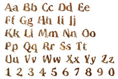 Lettres en bois de l'alphabet anglais Photo libre de droits