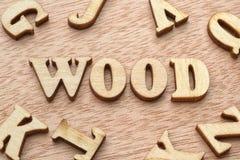 Lettres en bois de mot en bois photographie stock libre de droits