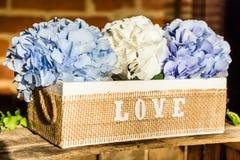 Lettres en bois formant l'amour de mot Photographie stock libre de droits