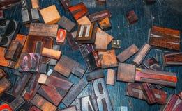 Lettres en bois, presse typographique de vintage Images stock
