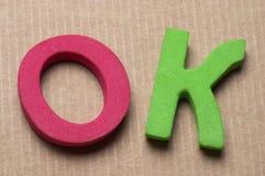 Lettres EN BON ÉTAT Image stock