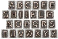 Lettres en métal Photo stock