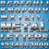 Lettres en métal Photographie stock libre de droits