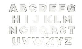 Lettres en verre Photographie stock libre de droits