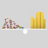Lettres et équilibre d'argent 3d Photo libre de droits