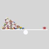 Lettres et équilibre de cadeau 3d Photos stock