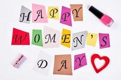 Lettres et cosmétiques de salutation Photographie stock