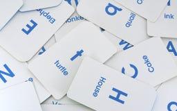 Lettres et fond de mots Photo stock