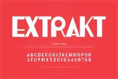 Lettres et nombres à la mode d'alphabet , type audacieux de police Photographie stock libre de droits