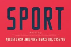 Lettres et nombres élégants d'alphabet d'équipe de sport vecteur, type folâtre de police Photographie stock libre de droits