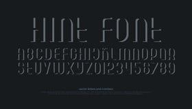 Lettres et nombres d'alphabet avec l'ombre rayée Photos stock