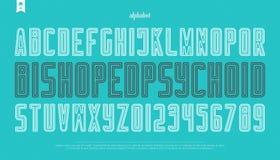 Lettres et nombres d'alphabet de style de découpe vecteur, type de police d'ensemble Photo stock