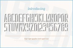 lettres et nombres d'alphabet de style de l'effet 3d illustration de vecteur