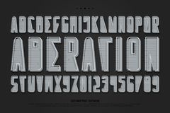 lettres et nombres d'alphabet du style 3d vecteur, police abstraite illustration libre de droits