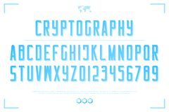 lettres et nombres d'alphabet du style 3d vecteur, type accentué de police Image stock
