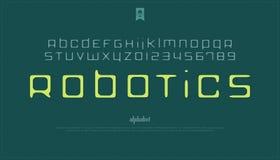 Lettres et nombres Handcrafted d'alphabet de style vecteur, type tiré par la main de police illustration stock