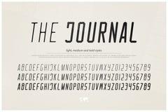Lettres et nombres italiques d'alphabet type conception de police Photographie stock libre de droits