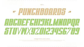 Lettres et nombres italiques d'alphabet vecteur, type audacieux conception de police Photo stock