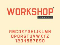 Lettres et nombres majuscules latins d'alphabet de vecteur illustration stock